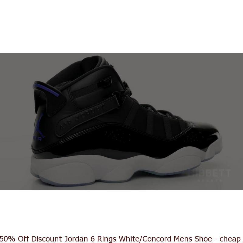 wholesale dealer ba401 bbfc8 50% Off Discount Jordan 6 Rings White/Concord Mens Shoe - cheap jordans big  sizes - Q0055