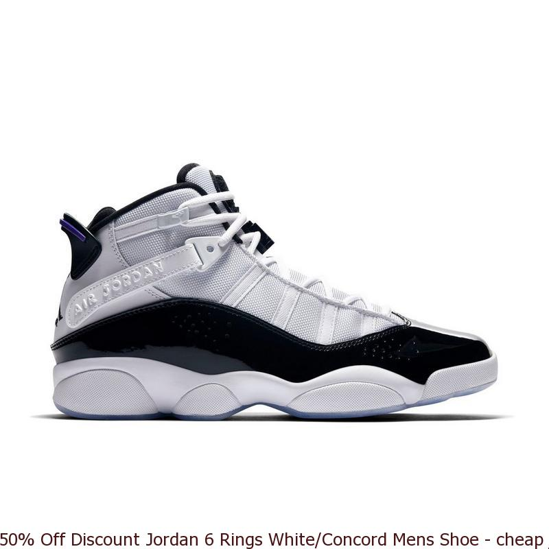 wholesale dealer 9ae07 b69b3 50% Off Discount Jordan 6 Rings White/Concord Mens Shoe - cheap jordans big  sizes - Q0055