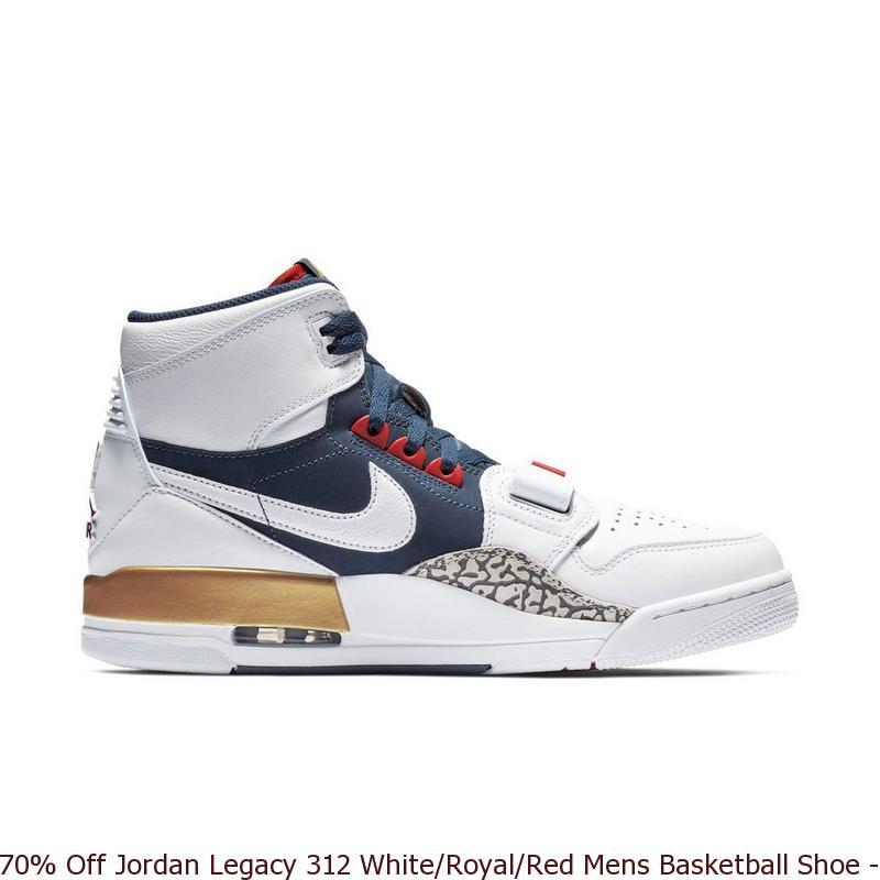 meet e353a 15a73 70% Off Jordan Legacy 312 White Royal Red Mens Basketball Shoe ...