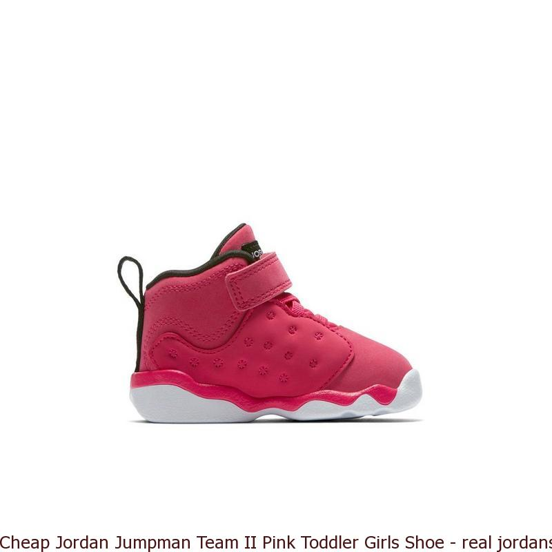 timeless design e1cc7 a145d Cheap Jordan Jumpman Team II Pink Toddler Girls Shoe - real jordans for  cheap prices - S0232