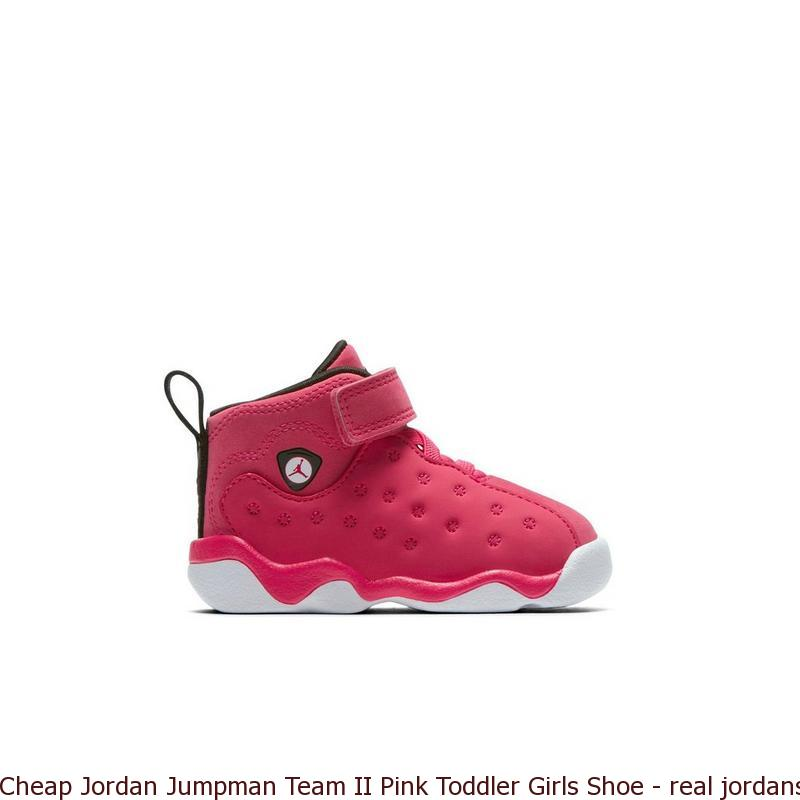 timeless design 29eb7 5f238 Cheap Jordan Jumpman Team II Pink Toddler Girls Shoe - real jordans for  cheap prices - S0232