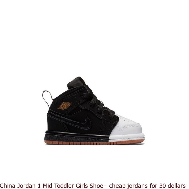 huge discount 6c55c 7c76a China Jordan 1 Mid Toddler Girls Shoe - cheap jordans for 30 dollars - 8030V