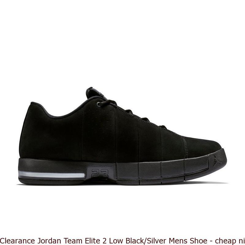 pretty nice 6020d d9aad Clearance Jordan Team Elite 2 Low Black Silver Mens Shoe – cheap nike ...