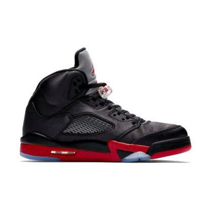 4a34dc72186d New Arrival Jordan 5 Retro Black Satin Mens Shoe – cheap jordan ...