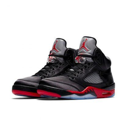 info for 471e0 ca279 New Arrival Jordan 5 Retro Black Satin Mens Shoe - cheap jordan shoes in  china - Q0180