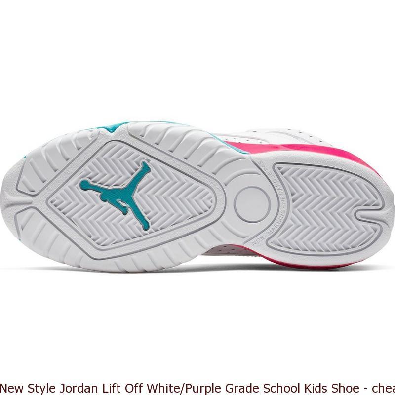 7b2ce53b0c16ee New Style Jordan Lift Off White Purple Grade School Kids Shoe ...