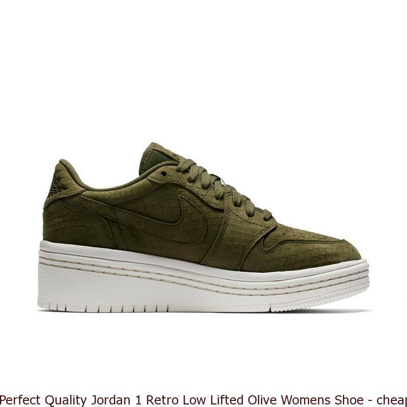 new style 489b2 b9f5e Perfect Quality Jordan 1 Retro Low Lifted Olive Womens Shoe – cheap nike ...