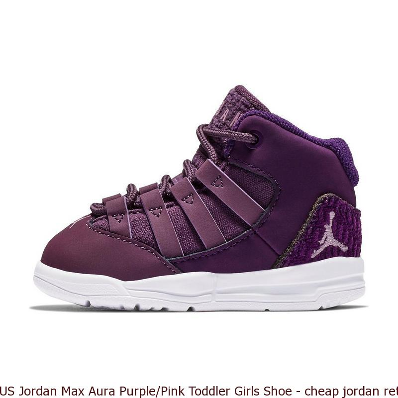 on sale 81958 12771 US Jordan Max Aura Purple/Pink Toddler Girls Shoe - cheap jordan retro 5  shoes - S0396